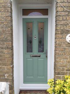 Chartwell Green 2 panel 2 square composite door