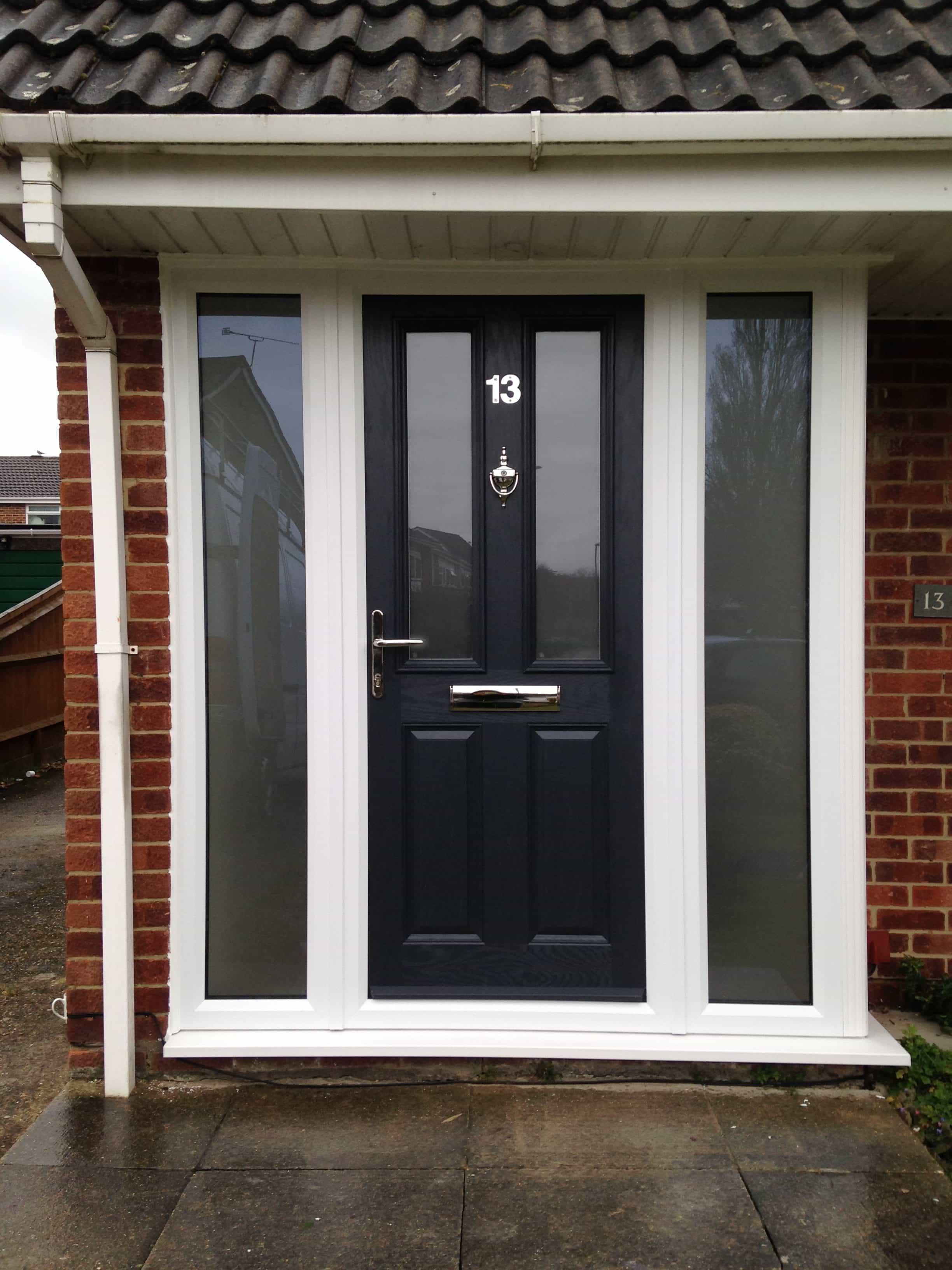 Grey composite doors grey front door buildmydoor for Composite door design your own
