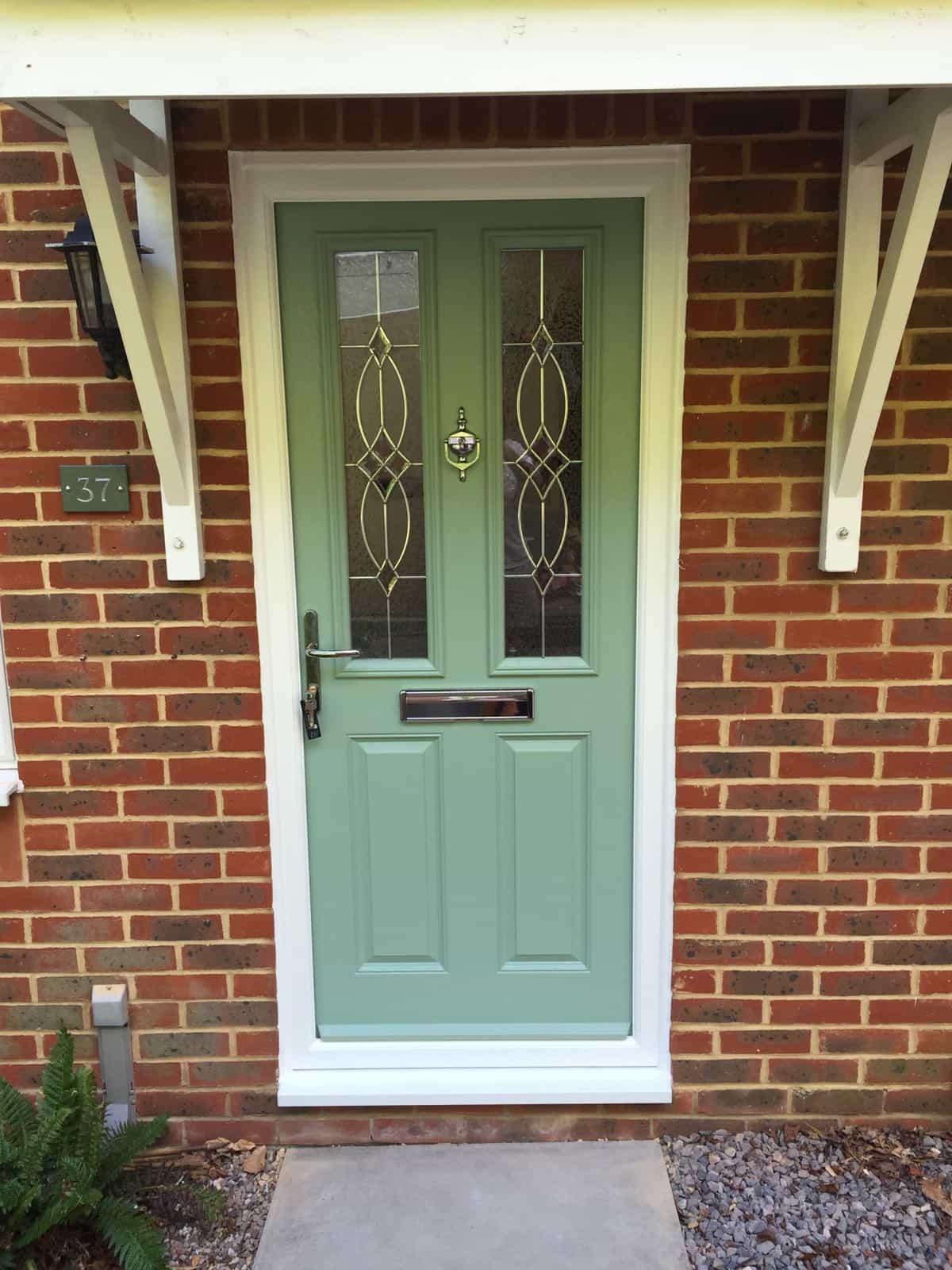 Composite Door Colours : Chartwell green composite doors