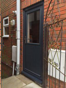 grey composite doors cottage half glaze supplied and installed by buildmydoor