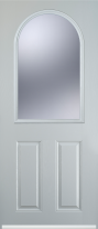 2 panel 1 arch composite door