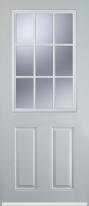 2 panel 1 grill composite door
