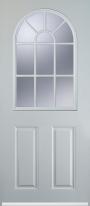 2 panel sunburst composite door