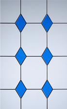s drop diamond blue glass