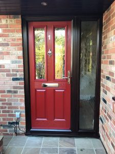 red 2 panel 2 square composite door
