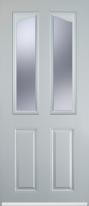 2 panel 2 angle composite door