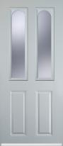 2 panel 2 arch composite door