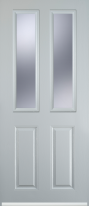 2 panel 2 square composite door