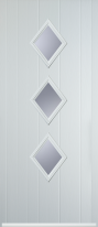 3 diamond composite door