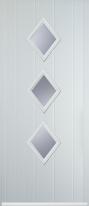 3 diamond composite door