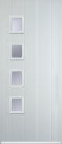4 square composite door left