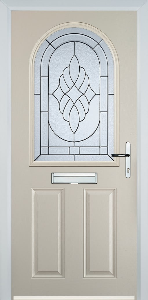 cream composite door with zinc art elegance glass