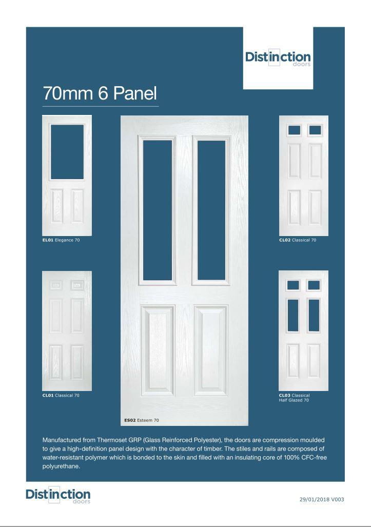 70mm 6 panel Datasheet