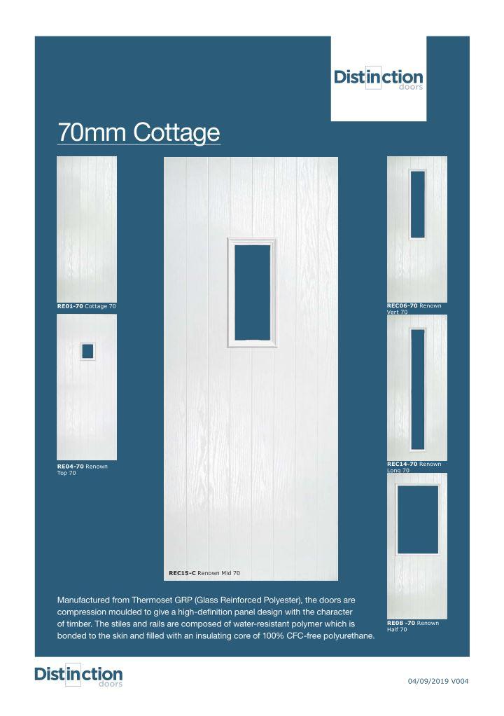 Cottage Door Datasheet