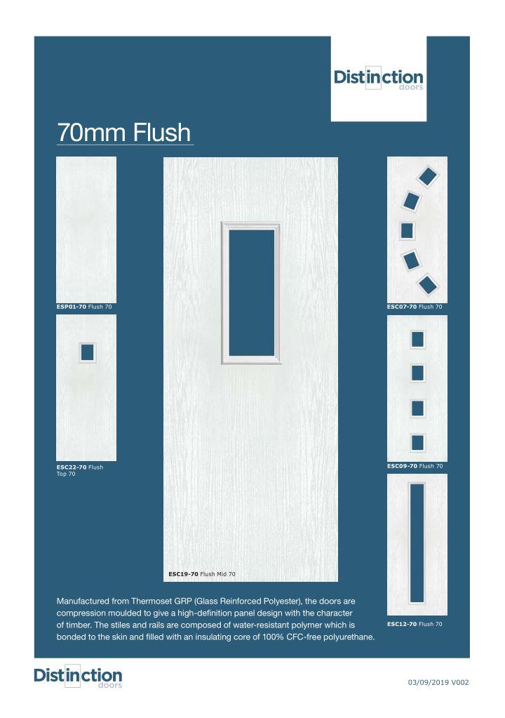 70mm flush door Datasheet