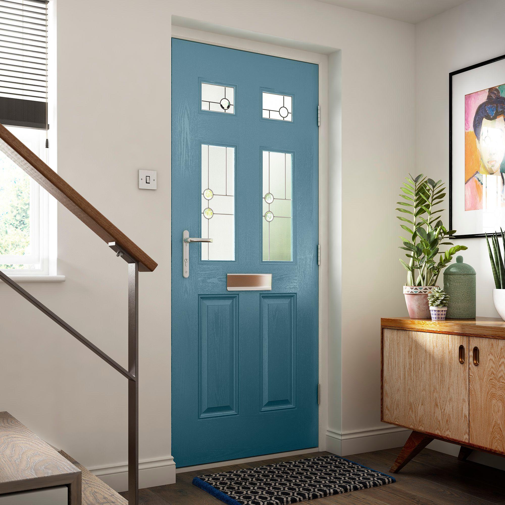 Blue Composite Doors Park Gate