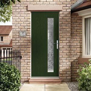 Dark green composite doors fareham