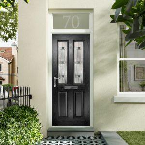 Black Composite Door Designs Fareham