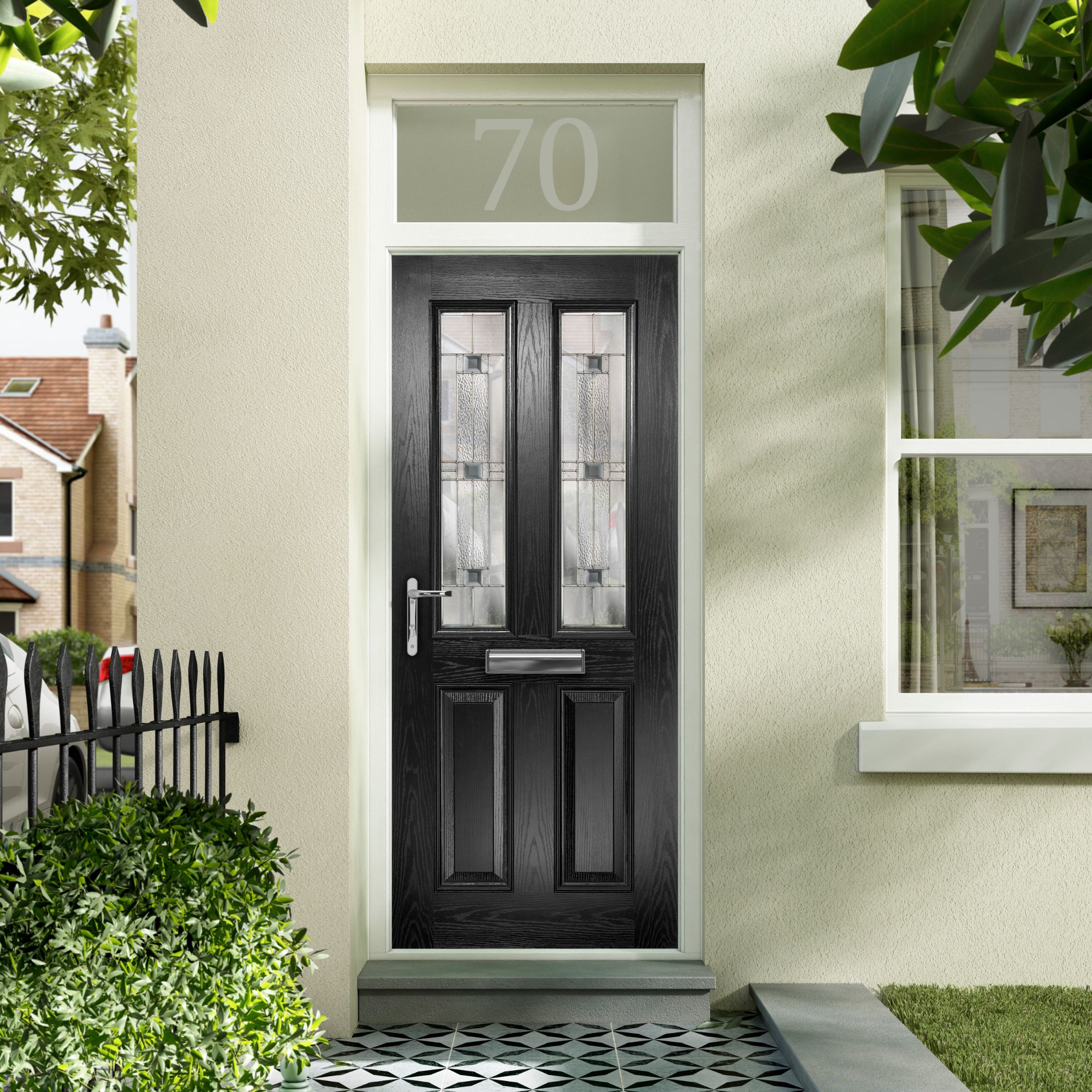 Black Composite Door Designs Fareham