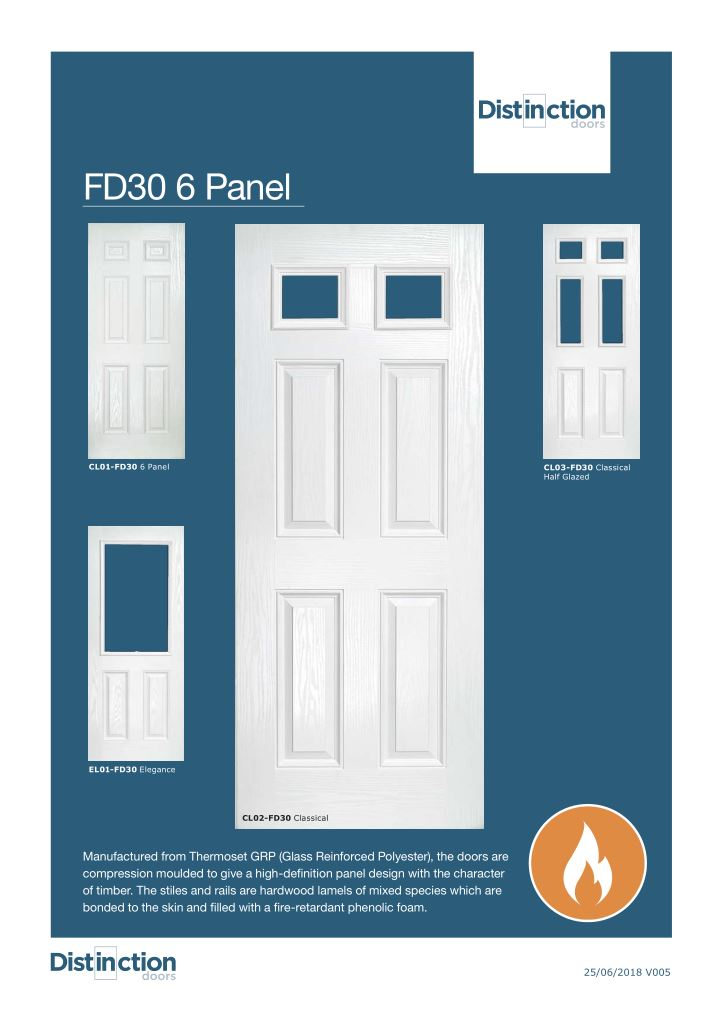 Classic Doors FD30 Datasheet