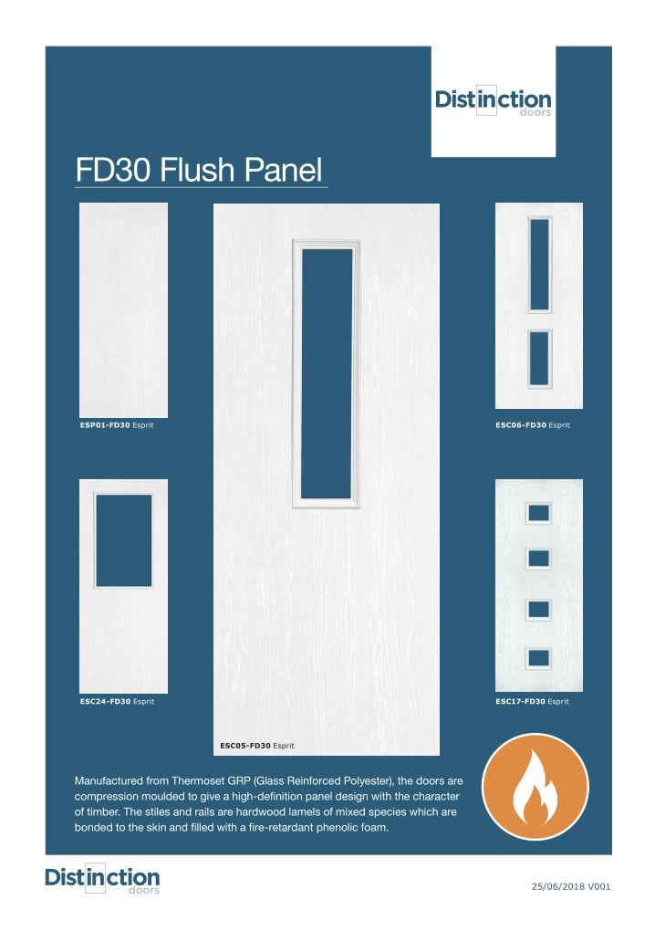 FD30 Flush Doors Datasheet