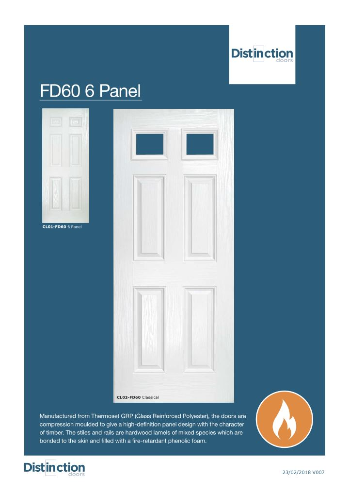 FD60 Classical Door Datasheet