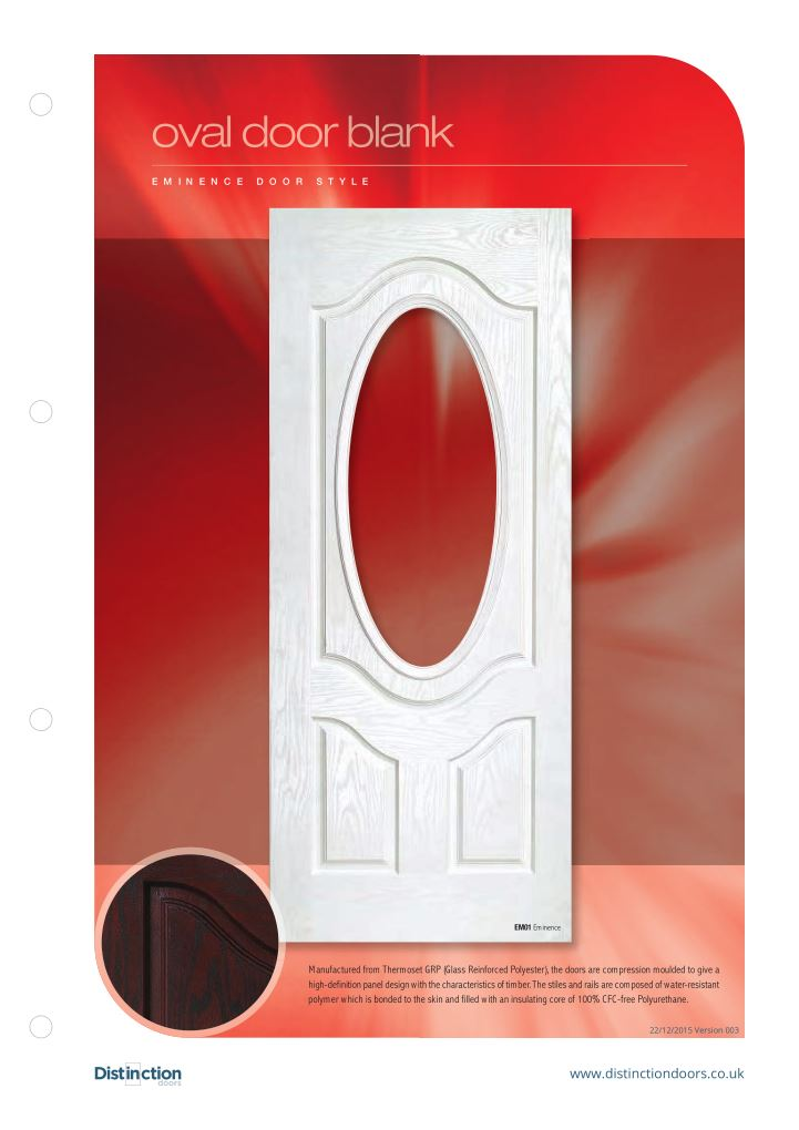 Oval Door Datasheet