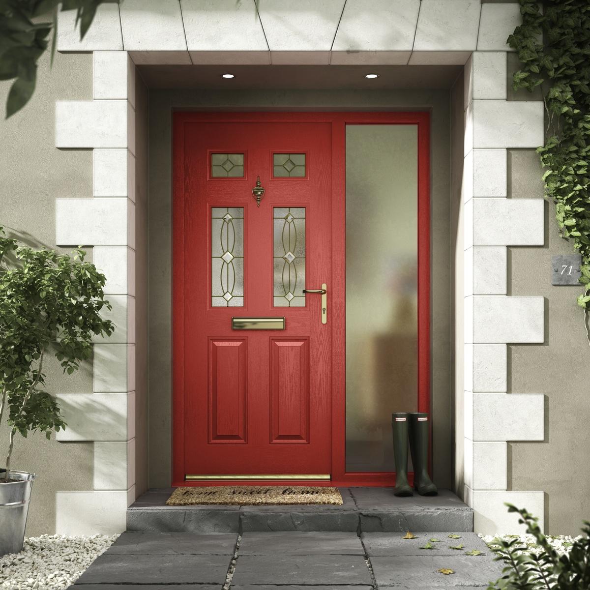 Red Composite Doors Lee on Solent